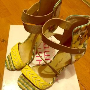 Yellow heels for the summer
